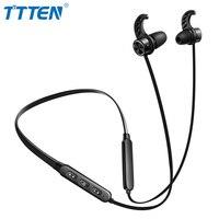 Ttten Мобильный Bluetooth Беспроводной гарнитура Магнитный всасывания шейным спортивные наушники стерео гарнитура для iPhone X 8 Xiaomi Android
