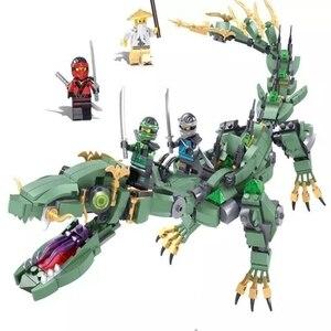 Image 4 - 2019 חדש creative ninjaly מקדש הדרקון פעולה תואם עם Legoings בניין צעצוע ninja עירוני בריק צעצוע לילדים מתנה