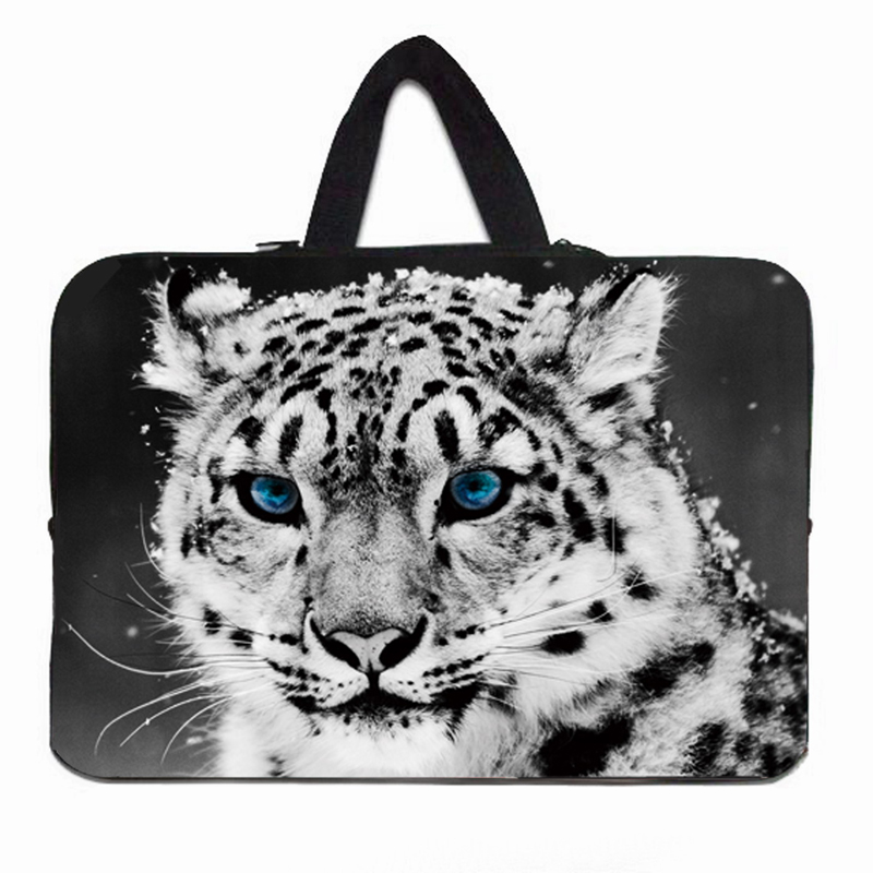 Newest Tiger Cover Hot 10 12 13 14 15 17 Funda Portatil Bolsas New Waterproof Laptop Sleeve Handle Carry Bag Cases Pouch +Handle
