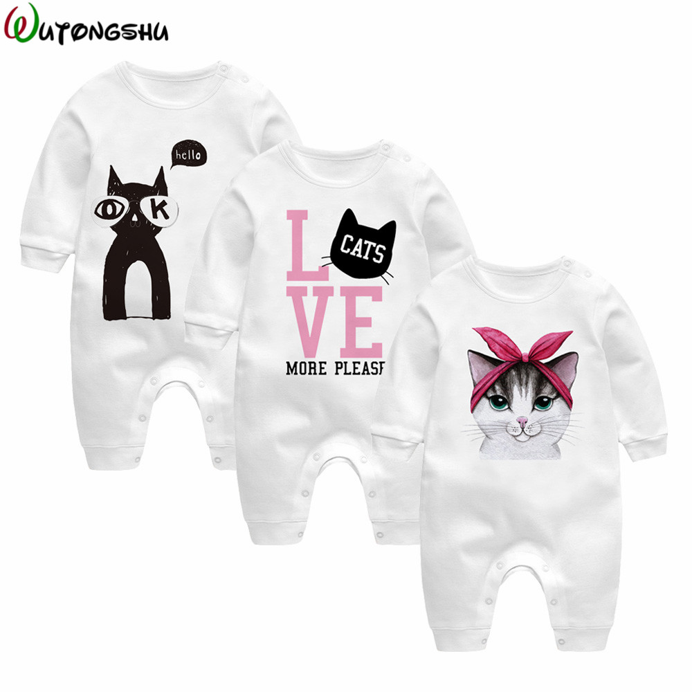 Brand Baby Girl Rompers Long Sleeve 3Pcs Cotton Newborn Baby Boy Clothing Fashion Baby Pajamas Infant Clothes For Twins Triplets newborn baby boy rompers overalls long sleeve infant jumpsuit clothing cotton monkey girl children pajamas costumes outwear
