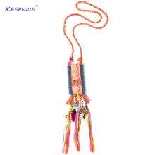 Новый Бохо шикарный ювелирный мешок обратно кулон богемные ожерелья