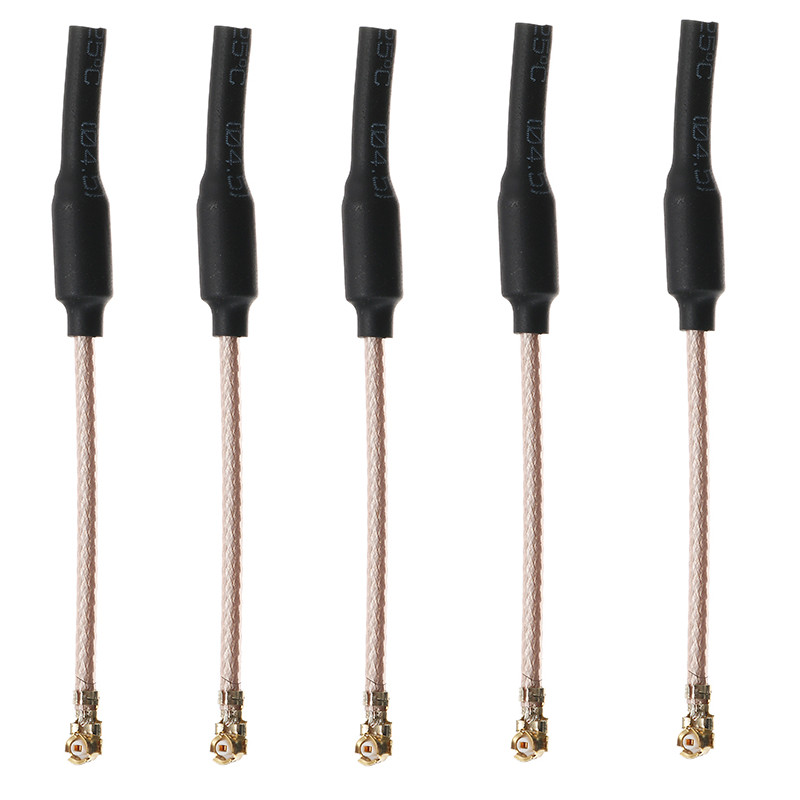 5PCS HGLRC 6.5cm 65mm 5.8G 2dBi U.FL IPEX IPX Omni Directional Linear Brass FPV Antenna RG178 For RC Drone