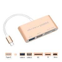 USB C a Multi SD CF Micro SD Adattatore Lettore di Schede di Tipo-C USB-C HUB OTG 3.0 Micro USB combo Splitter per Macbook Air Pro 2018