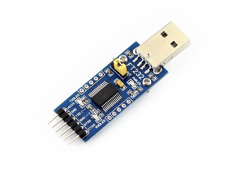 Modules Waveshare FT232RL FT232 USB 3.3V 5V to TTL Serial Adapter Module FT232RL USB Mini Port UART win8 10 mac android ftdi ft232rl usb rs232 db9 serial adapter converter cable