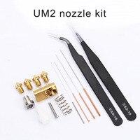 1 Set Nozzle Cleaning Needle Kit Drill Bit Tweezer Hotend Filament for Ultimaker2 3D Printer EM88