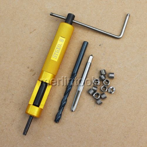coil Thread Repair Kit M5 x 0.8 Drill and Tap Insertion toolcoil Thread Repair Kit M5 x 0.8 Drill and Tap Insertion tool