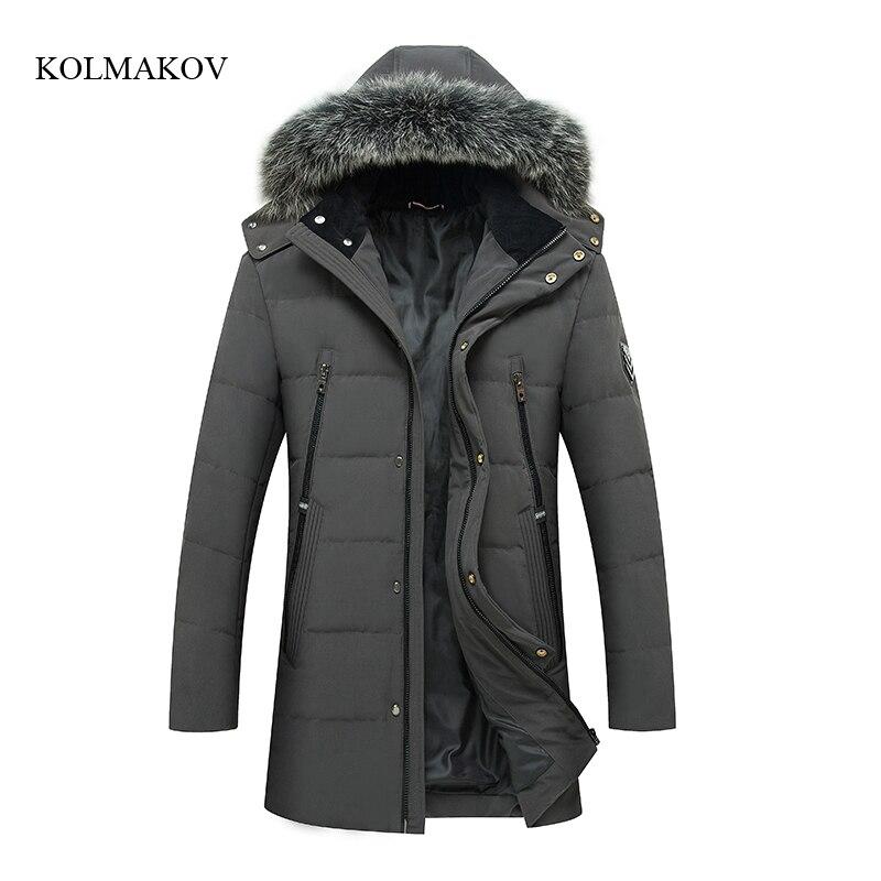 2017 new arrival winter style men boutique   down     coats   fashion casual slim hat detachable men's solid zippers   coat   size M-3XL