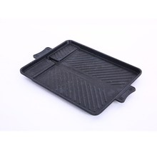 Korean Style Rice Stone Aluminum Baking Tray Square Barbecue Grill Dish Portable Outdoor Frying Pan