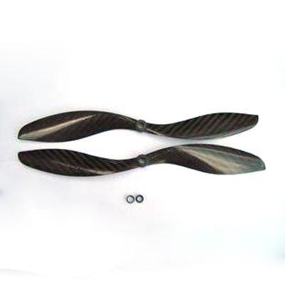 2 пары 1047 10x4.5 углеродного Волокно Пропеллеры CW/CCW Для QuadCoptor