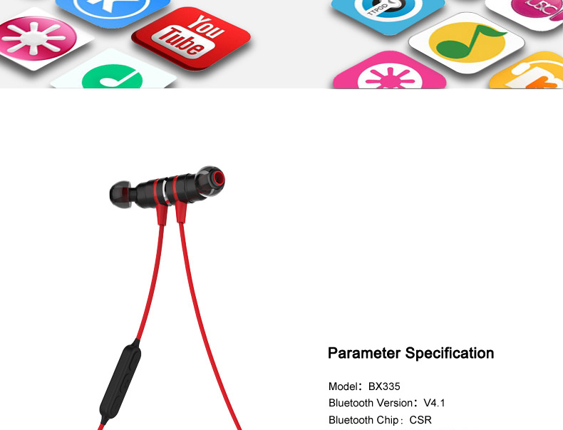 20-1 Magnetic suction swith mini wireless Bluetooth earphone stereo sports bluetooth earbuds music bluetooth headset with microphone