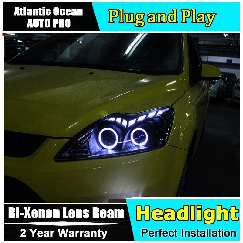 Авто.Про стайлинга автомобилей на 2009 Форд Focus2 LED Фокус фары фары DRL объектив двойной Луч HID комплект ксенон Би Ксеноновые линзы