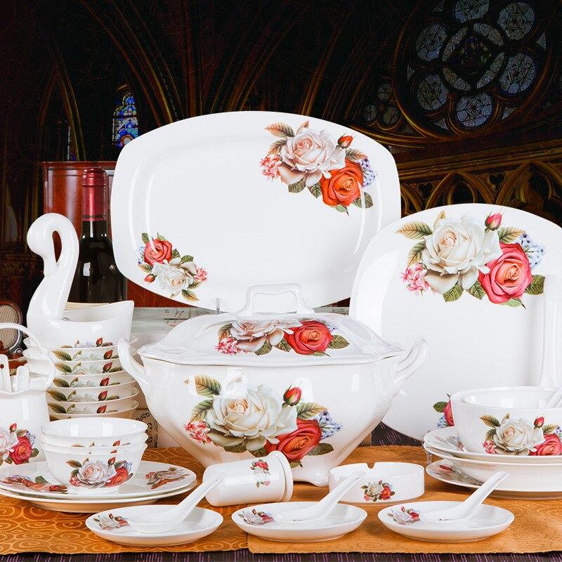 Wedding Gift China: Supply Of 70 Bone China Tableware Suit Wedding Wedding
