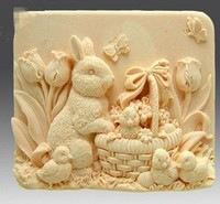 2016 New The Big White Rabbit Art Silicone Soap Mold Craft Molds DIY Handmade Soap Molds