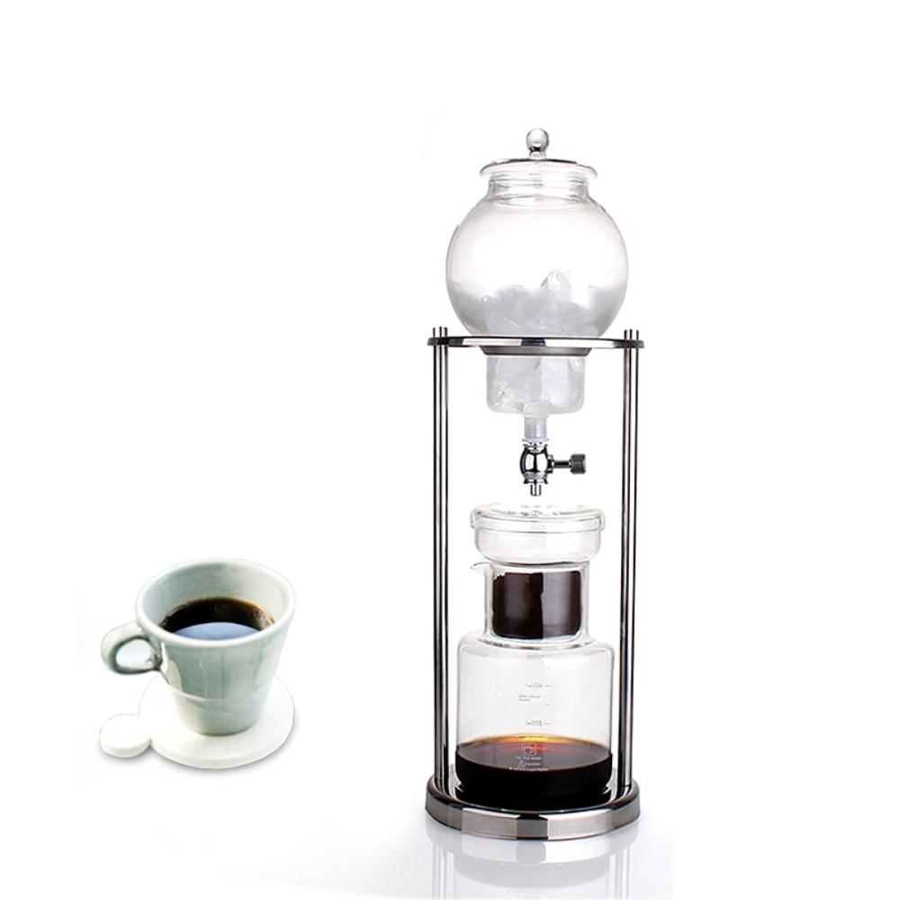 600ml wody do kawy kroplówki ekspres do kawy wielokrotnego użytku filtr szklany narzędzia ekspres do kawy Espresso kroplownik kawowy Pot lodu zimny napar ekspres do kawy w Dzbanki do kawy od Dom i ogród na  Grupa 1