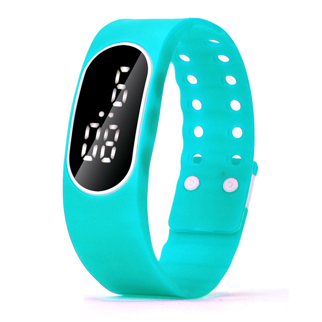 Waterproof Unisex Men Women Watches Digital LED Luminous Display Time Hour Rubber Silicone Sports Quartz Watch reloj deporte