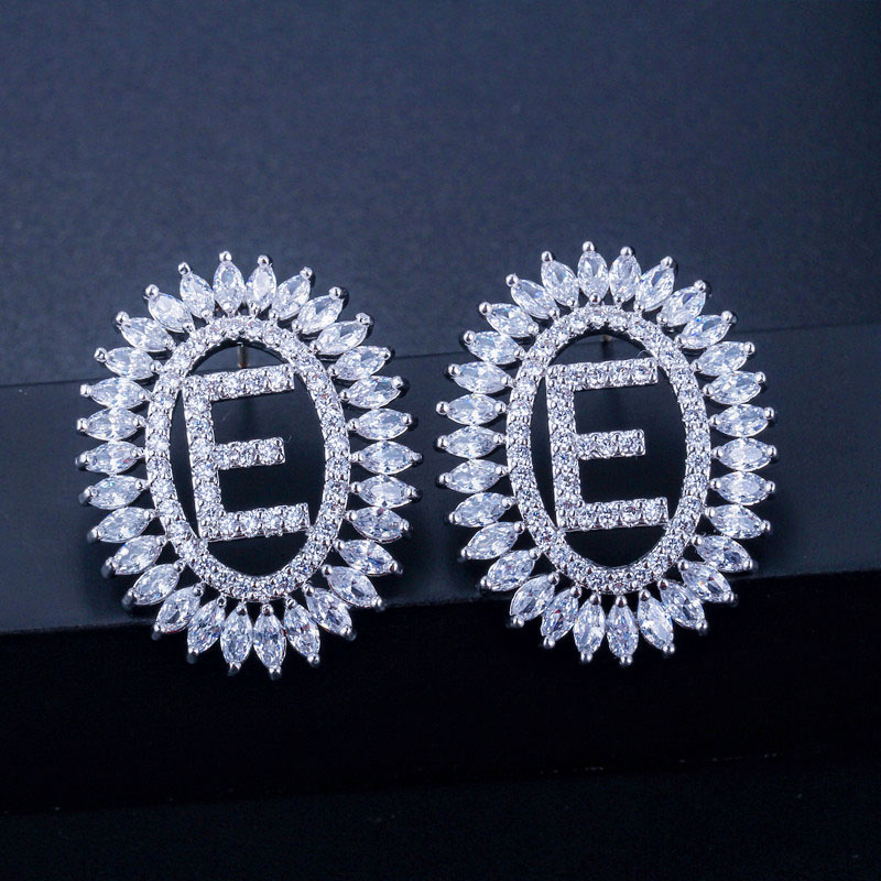 Letter Stud Earrings 12