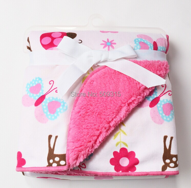 Free Shipping Coral Fleece Baby Blanket Super Soft Bedding