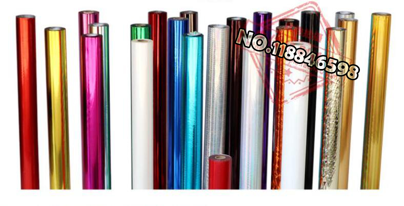 Holographic Foil Hot Stamping For Paper Or Plastic Colorful 80MMx120M Heat Stamping Foil Paper(China)