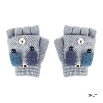 Παιδικά πλεκτά γάντια με σχέδιο γατάκι Παιδικά Ρούχα Ρούχα MSOW