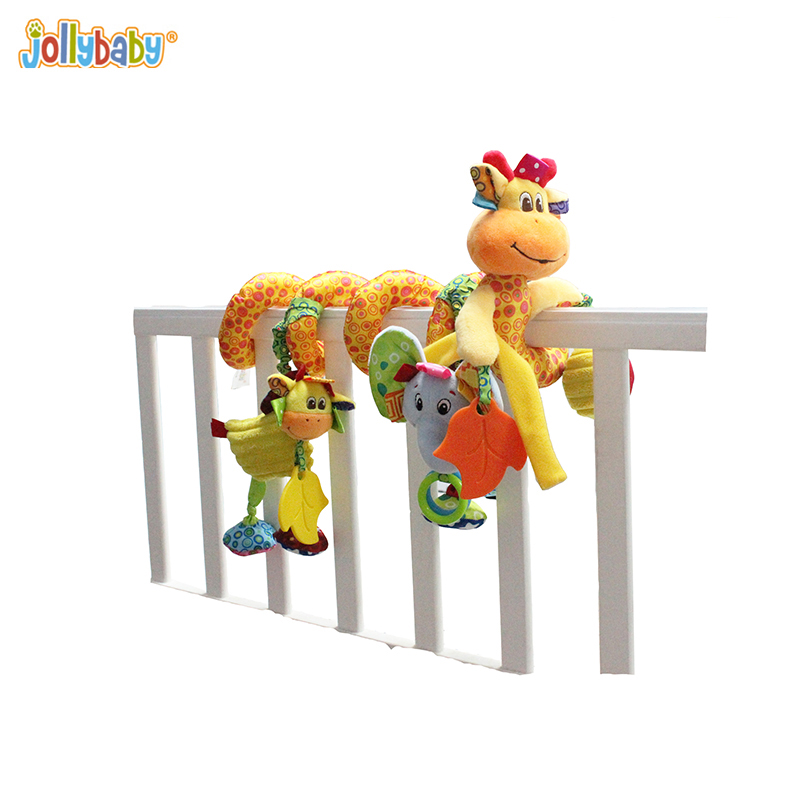 toys for children plush doll Giraffe Crib Spiral toy Cotton Stuffed Plush Child Toys Colorful Hot Sale Baby Soft Stuffed Animals one piece lage size 20inch baby toys pokemon xerneas doll a cute plush toys for children stuffed pp cotton high quality
