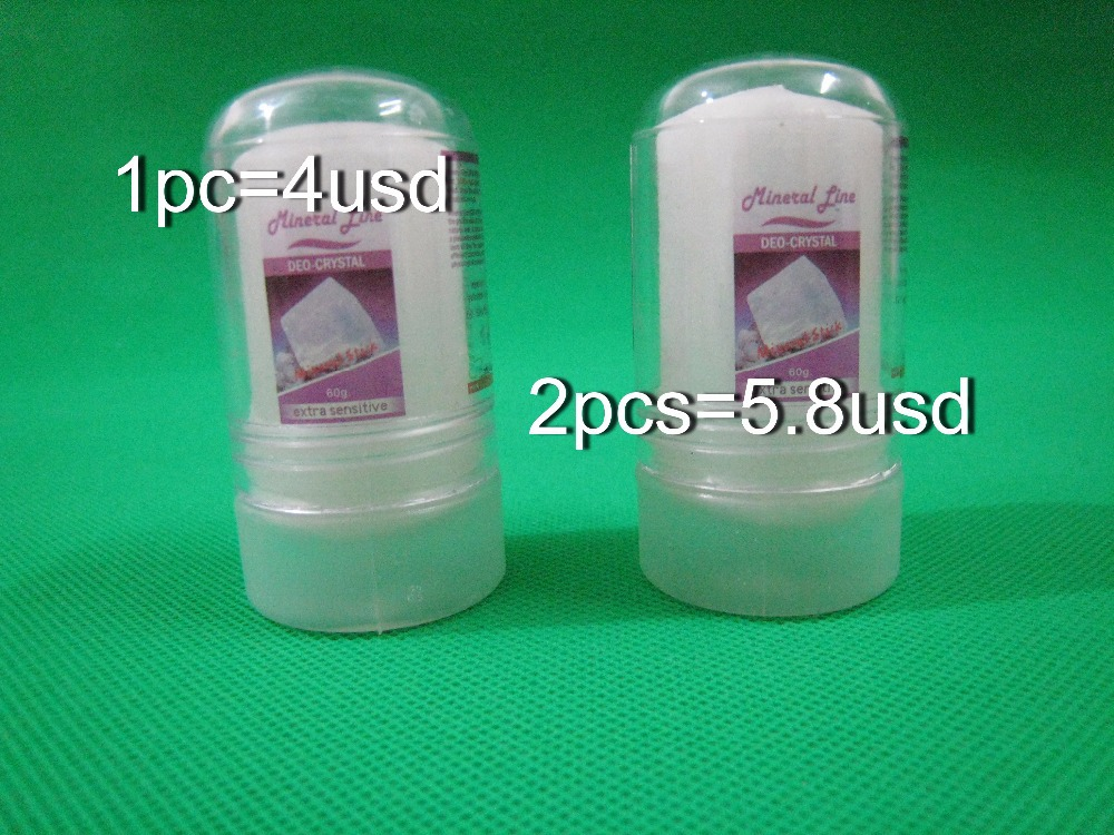 Free shipping for 2pcs 60g alum stick,deodorant stick,antiperspirant stick,..