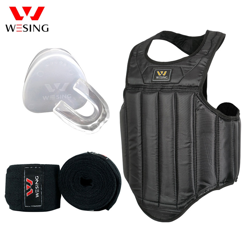 MMA Boxing Chest Guard Pad Muay Thai kickboxing chest Protector Breast Sanda Karate Taekwondo Training