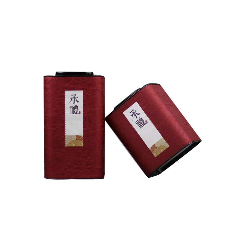 Xin Jia Yi di Imballaggio Scatola di Superficie di Seta Rettangolo di Carta Eco-Friend Materiale Tè Sfuso Tè Nero Caffè Rosso Verde Marrone 2 formati Lattine