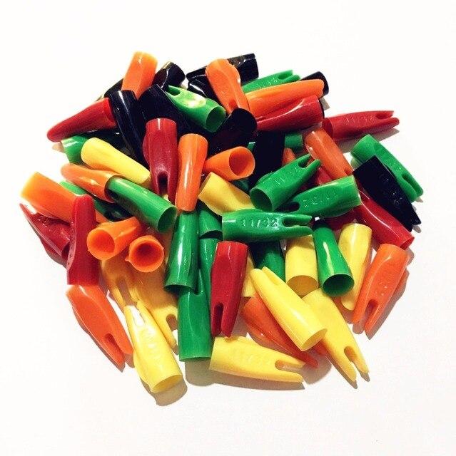 11/32 шт. 100 конус стрелки Nocks пластик для OD мм 8 мм деревянные стрелы валы стрельба из лука