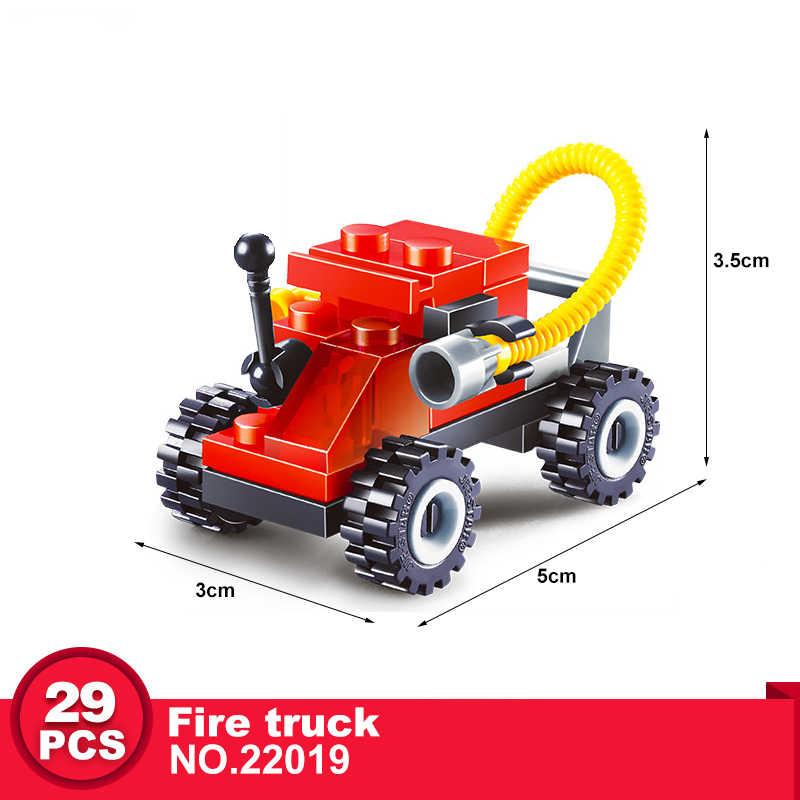 ビルディングブロックミニ市車シリーズ教育創造輸送フィギュアレンガ Legoe と互換性のおもちゃ