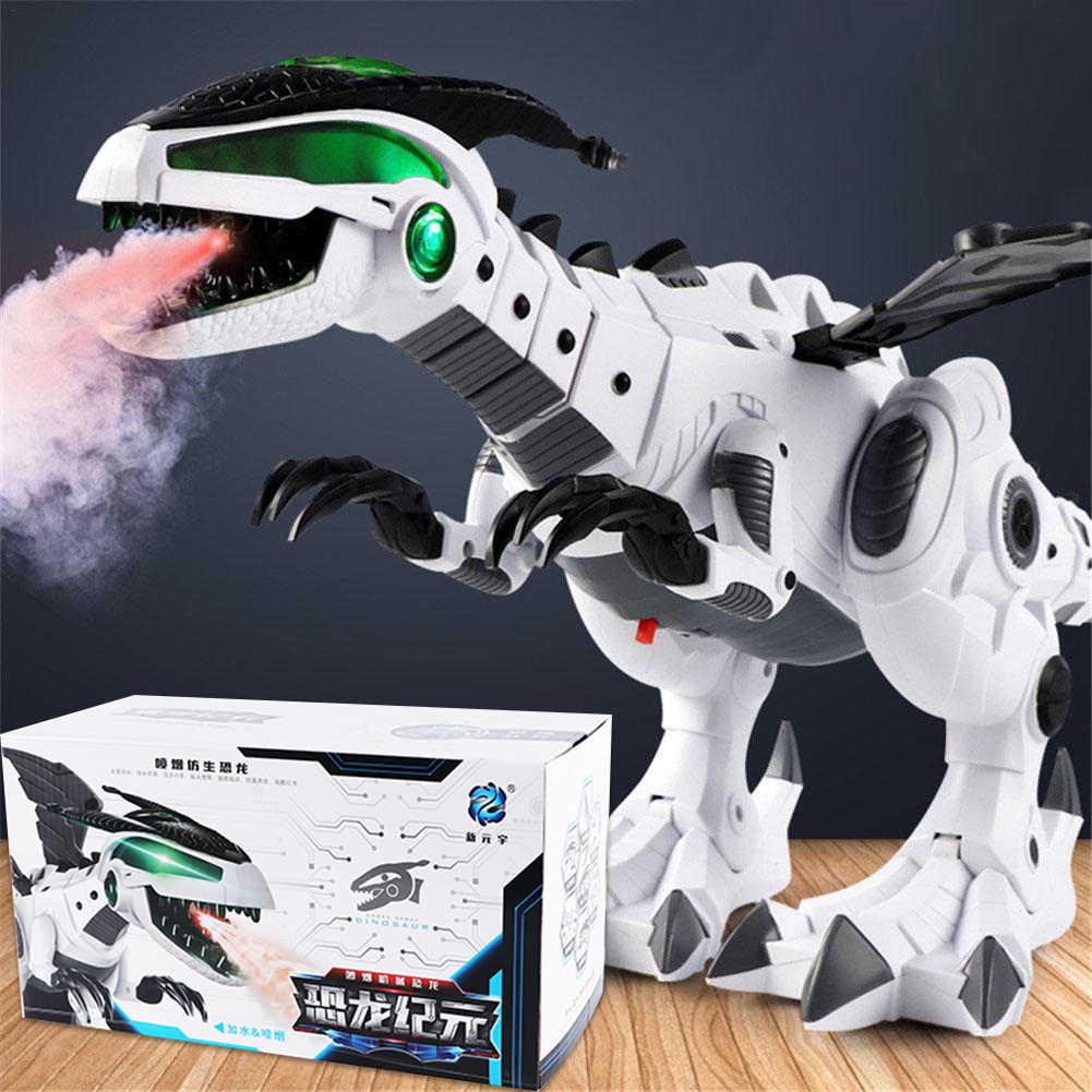 Электрический динозавр модель игрушки большой размер прогулочный спрей динозавр робот со светом Звук качели моделирование динозавр игрушка для мальчика подарок