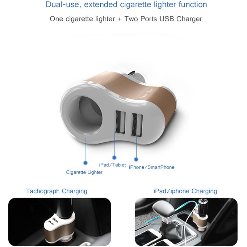 Brorikoy Cargador de coche para iPhone 6 iPad 2 puertos USB Cargador - Accesorios y repuestos para celulares - foto 3