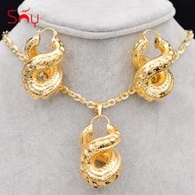 Sunny Jewelry, большие серьги-кольца, ожерелье с кулоном, женский медный крест, номер восемь, модные, Новое поступление, вечерние ювелирные наборы