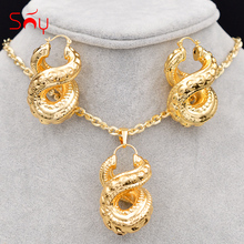 Sunny Jewelry Big Hoop Earrings Pendant Necklace Women's Copper Cross Number Eight Trendy New Arrivals Jewelry Sets For Party