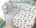 Promotion! 6/7PCS cotton baby crib bedding sets cute cartoon toddler baby cot bedding sets,Duvet Cover ,120*60/120*70cm