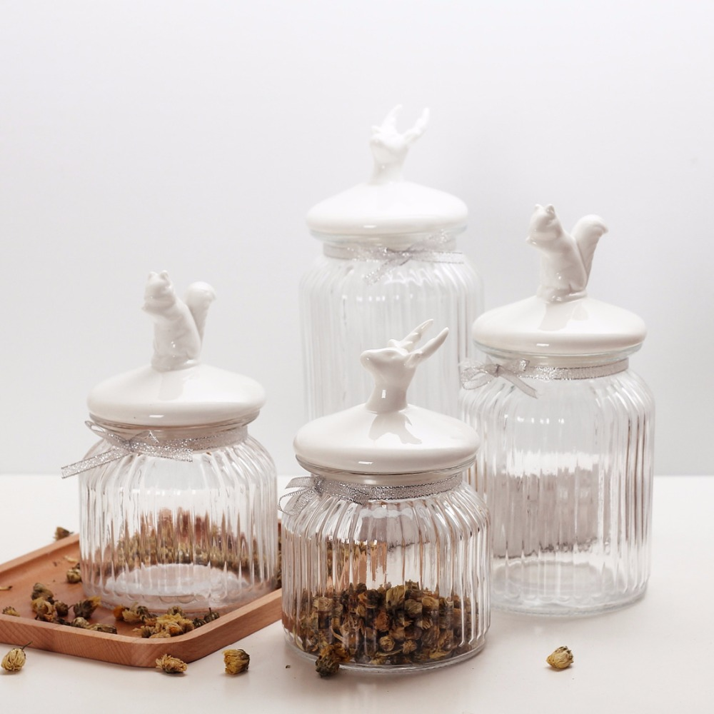 popular glass jars kitchen buy cheap glass jars kitchen lots from 1 piece transparent glass jars seal jars grains storage bottles spice jar kitchen storage cans kitchen