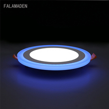hot deal buy round/square  led panel light 6w 9w 16w 24w  led panel light double color led ceiling recessed down lamp for indoor lights
