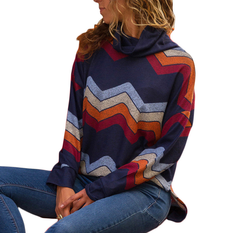 7f4c26a5cfb89 Turtleneck Sweater 2019 Women Striped Sweater for Women Long Sleeve  Pullovers Casual Cotton Sweater Female Top