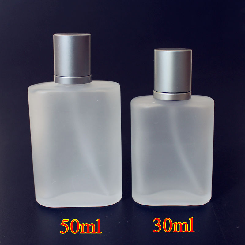 1PC Frosted 30ml 50ml Glass Empty Perfume Bottles Spray Atomizer Refillable Bottle Scent Case with Travel Size Portable-in Refillable Bottles from Beauty & Health