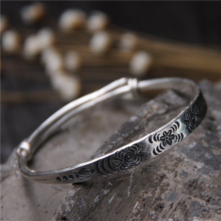 2018 Top Fashion For Children Of Carve Patterns Or Designs On Woodwork National Wind Restoring Ancient Ways Adjustable Bracelet