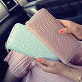 The new fashion card package crocodile pattern wallet women leisure clutch bag long zipper female wallet wholesale