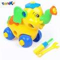 Nueva llegada diy juguetes para niños juguete educativo del juguete ensamblado con herramienta de sujeción y destornillador