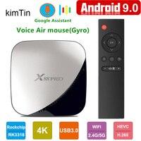 Новый X88 PRO Android 9,0 tv BOX 4 Гб ram 64 Гб Google Voice Assistant Rockchip RK3318 Quad core 2,4 и 5G Wifi H.265 Netflix 4 K X88PRO