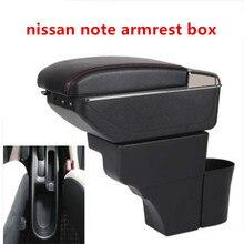 Для Nissan Note подлокотник коробка зарядка через usb повысить двойной слой центральный магазин содержание обладатель Кубка пепельница аксессуары 16-18