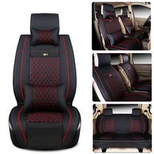 Car styling Front/Middle/Rear 7 Car Seat Covers Deluxe PU Leather Car Seat Cushions Kit for MPV HONDA Elysion / GL8 etc