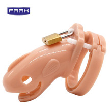 FRRK plastic Male Chastity Cock Cages Sex Toys For Men Penis Belt Lock With Cage Gay Device Chastity Lock Sex factory все цены