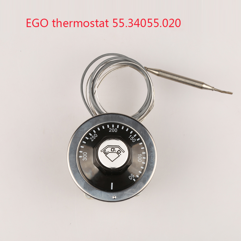 380V  EGO thermostat 50-300 degrees celsius 55.34055.020, over temperature protective adjustable tempering control switch ac 250v 16a 70 celsius bimetal adjustable temperature heating thermostat switch