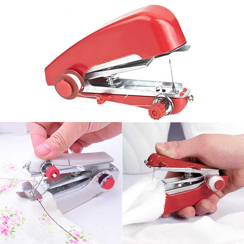 Cordless Random Colour Clothes Sewing Machines Easy to Carry Mini Hand-Held Portable needlework Convenient Without Electricity