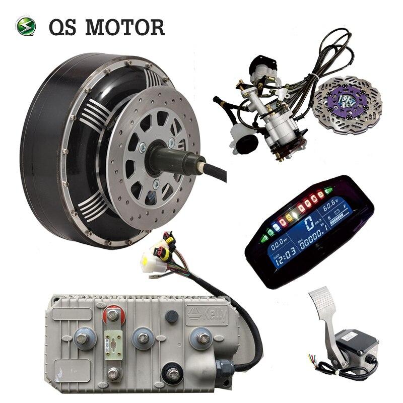 QSMOTOR 6000 W 273 45 H V3 BLDC kits de conversion de moteur de moyeu de voiture électrique sans brosse avec Kelly 7250 H