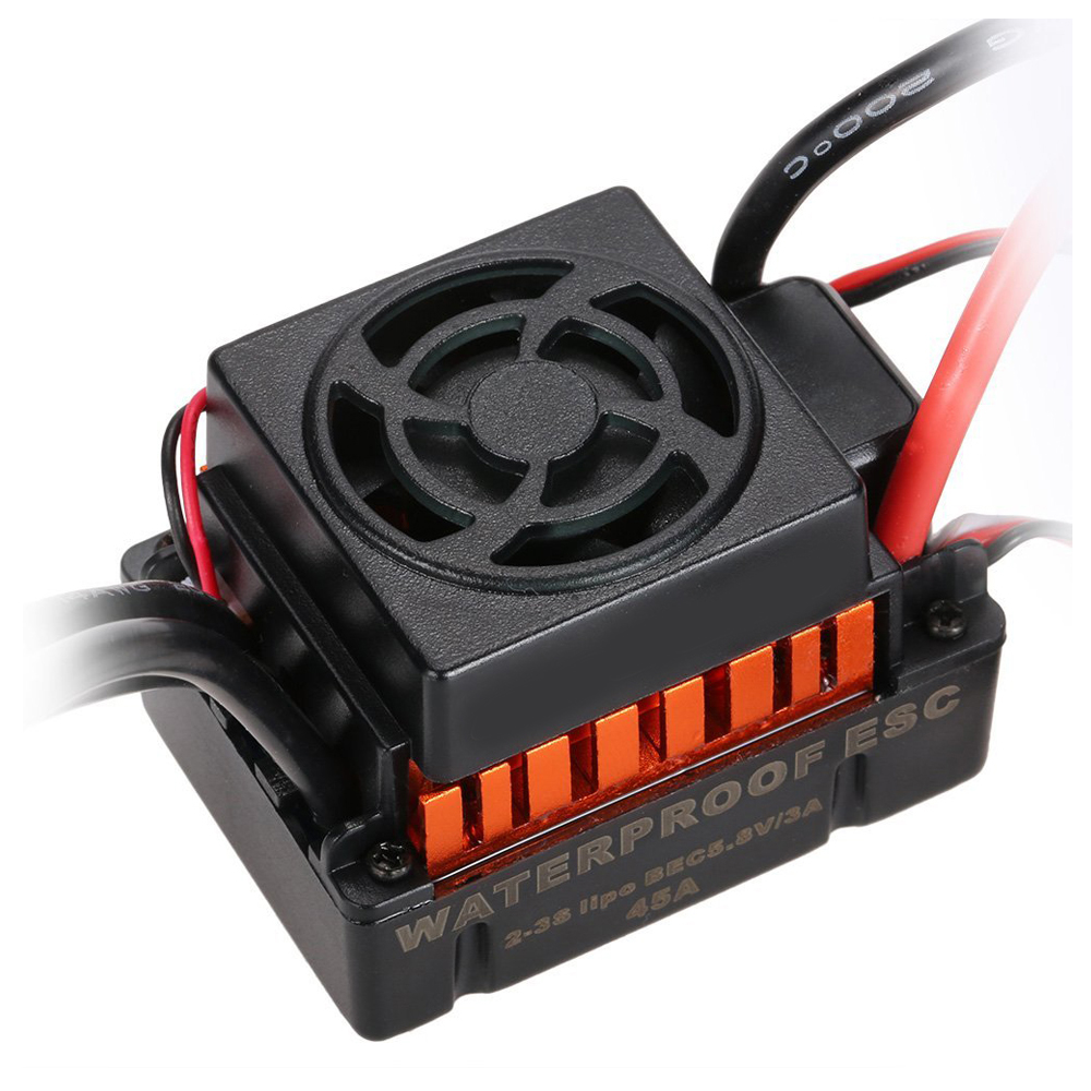 ABWE Best Sale Upgrade Waterproof 3650 3100KV Brushless Motor with 60A ESC Combo Set for 1/10 RC Car Truck hobbywing ezrun max8 v3 t trx plug waterproof brushless esc 4274 2200kv motor led programing for 1 8 rc car truck f19289 90