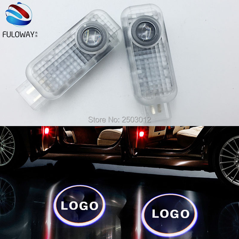 2 X LED Car Door Courtesy Laser Projector Logo Ghost Shadow Light For Audi Sline A8 A7 A5 A6 A4 A3 A1 R8 TT Q7 Q5 Q3 C6 B5 for toyota led car door courtesy laser projector led logo ghost shadow light for toyota prado camry carolla reiz sienna prius